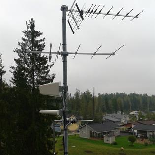 FM-antennin kytkennät